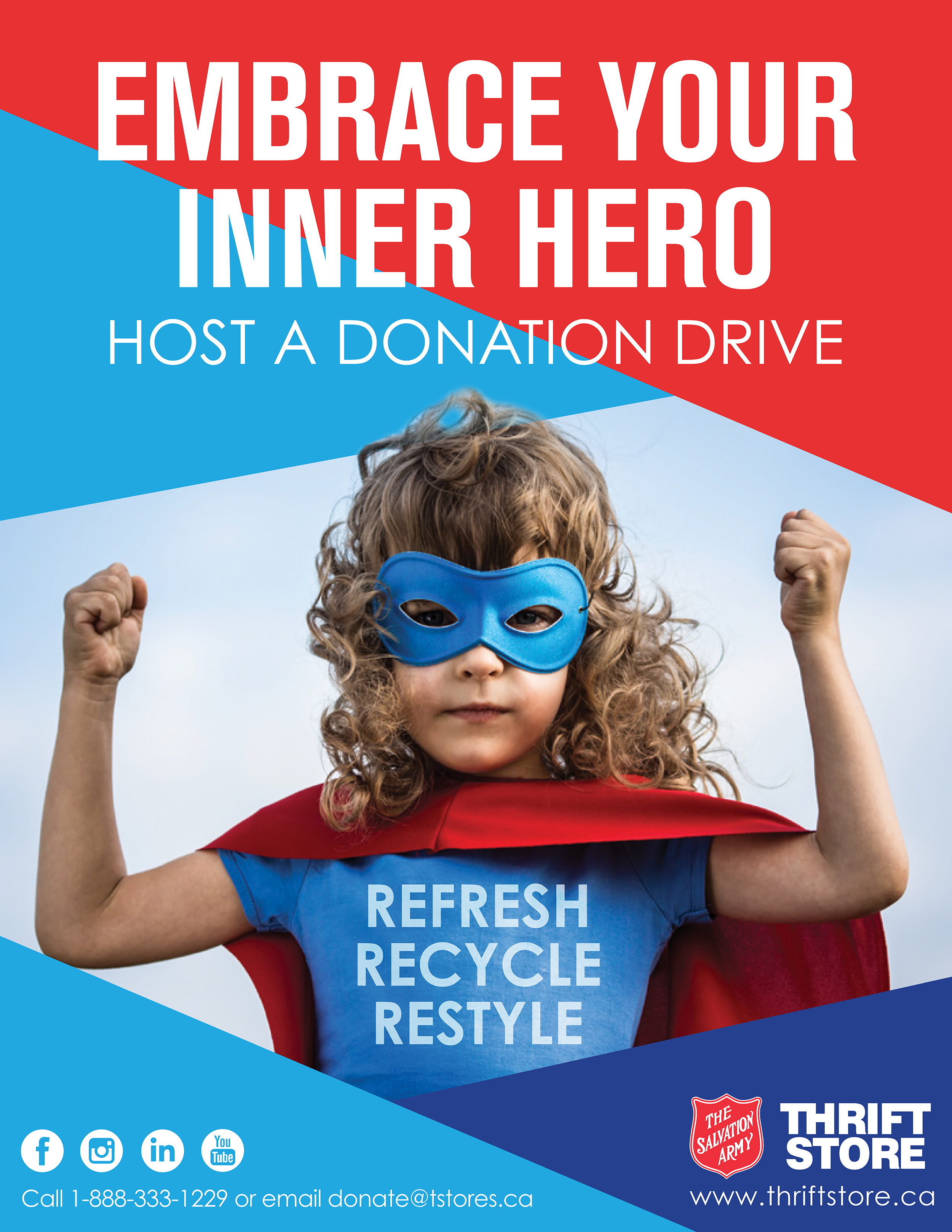 Cover to Embrace Your Inner Hero, Host a Donation Drive document