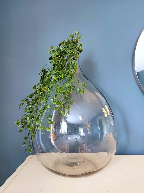Erin - Three Ways to Style a Demijohn Glass Vase - Green