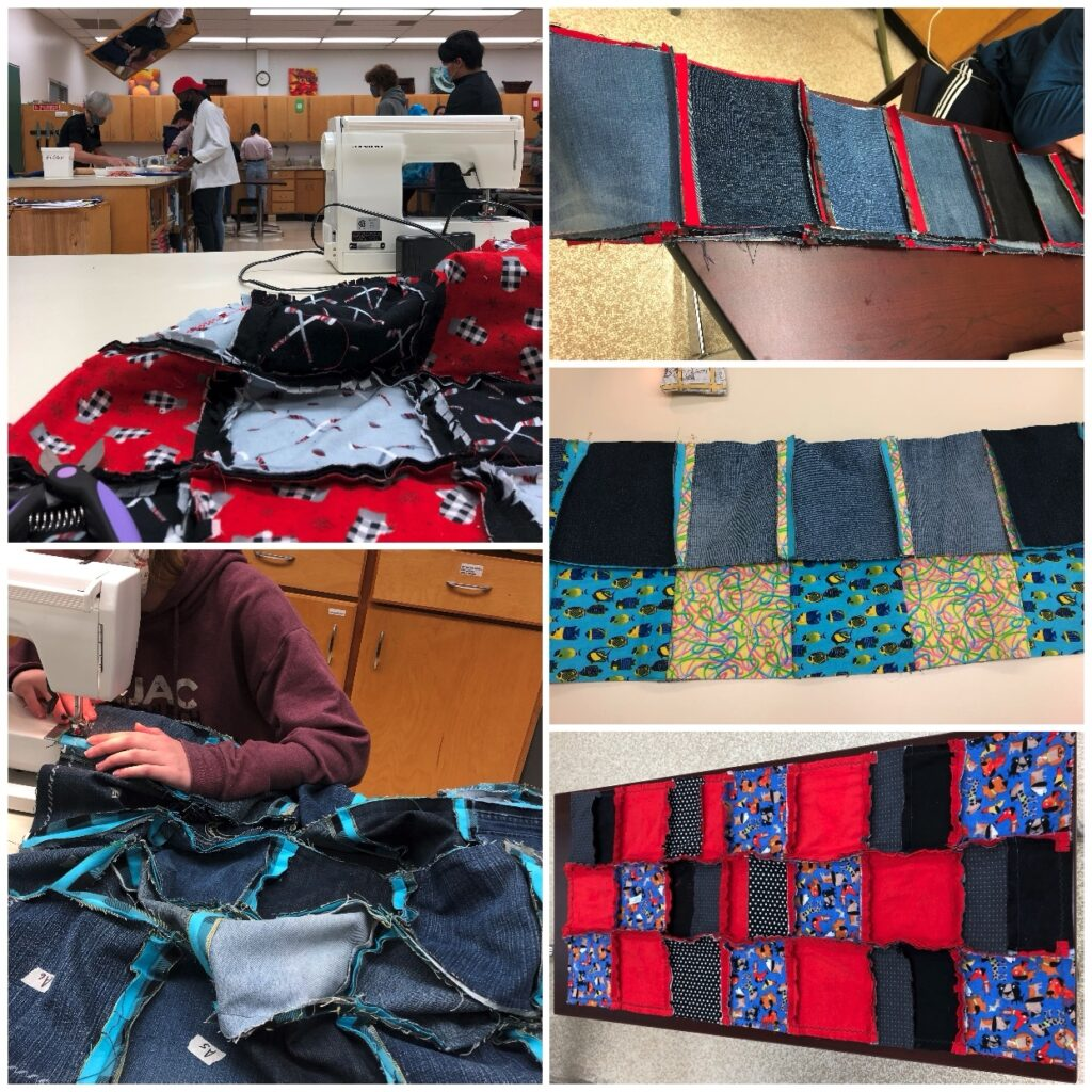 Inspiring the Next Generation of Thrifters - Quilt Process