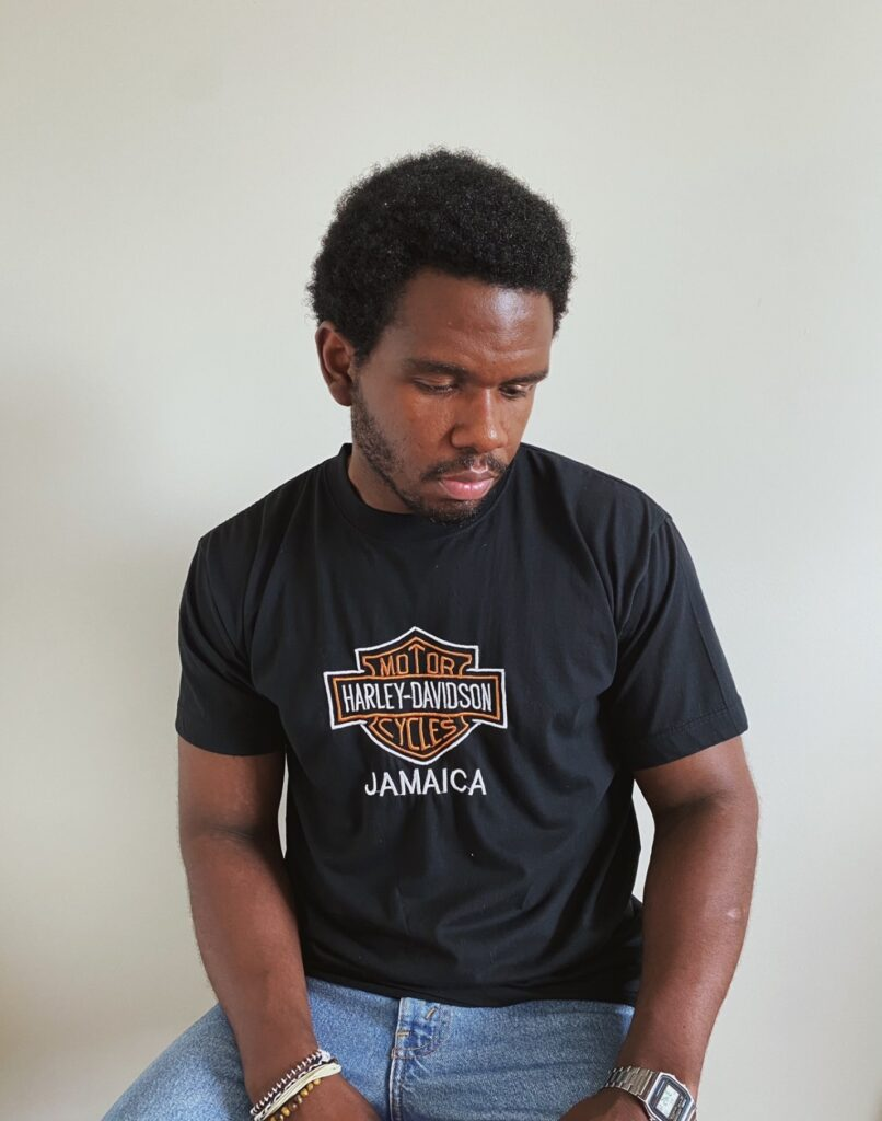 David styling Harley Davidson Jamaica black t-shirt