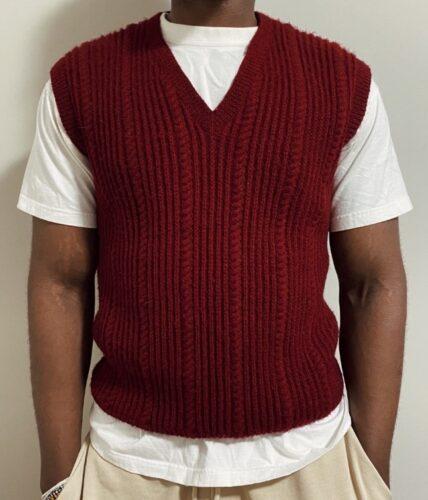 Thrifted burgundy sweater vest