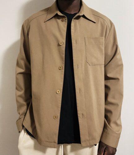 Thrifted beige lightweight jacket