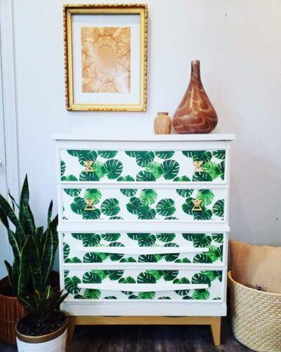Thrifted dresser furniture flip DIY after