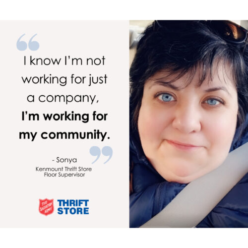 """""""I know I'm not working for just a company, I'm working for my community."""" – Sonya"""