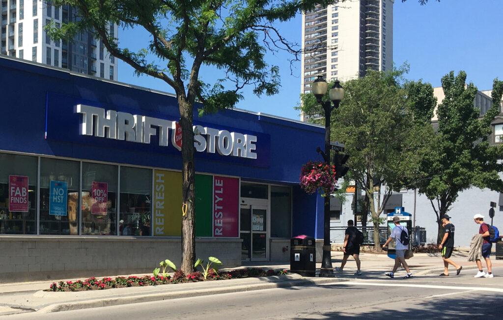 Hamilton Downtown Thrift Store Storefront