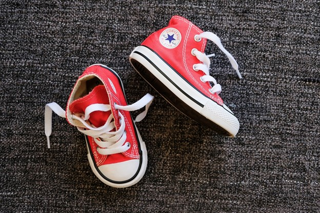 Thrifted kids red sneakers