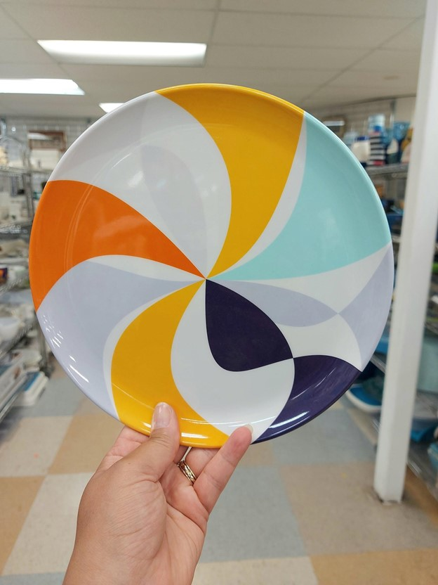 Thrifted funky dishware