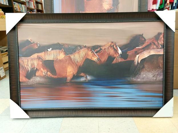 Thrifted horses artwork