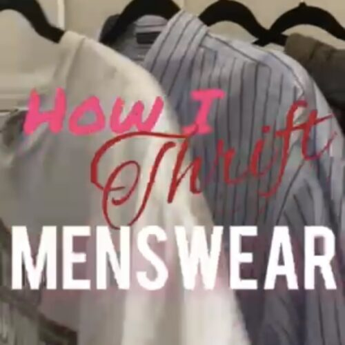 How to thrift menswear