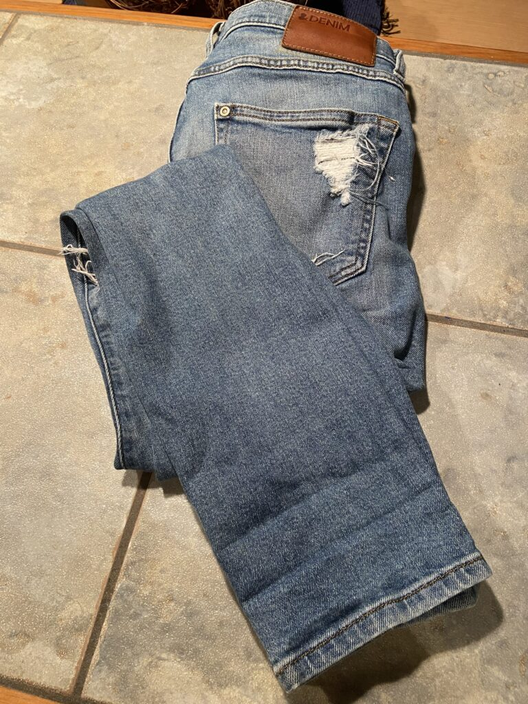 Thrift a pair of jeans